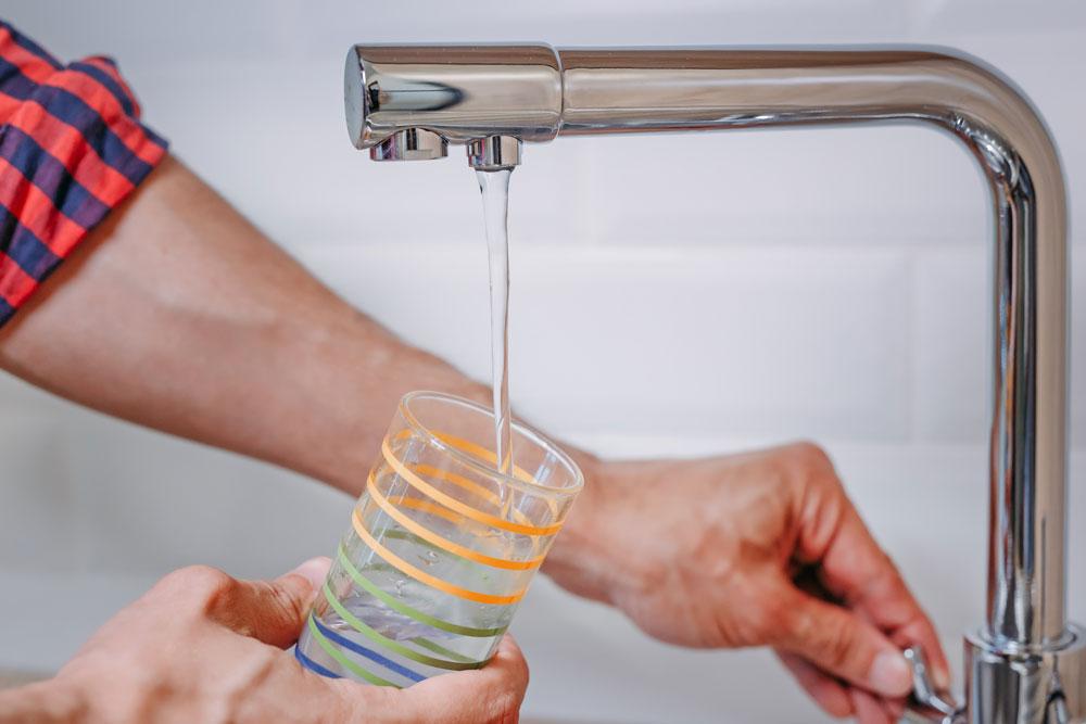 foto di filtrazione acqua domestica